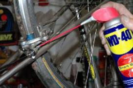 Schoonmaakmiddelen voor de fiets van WD-40