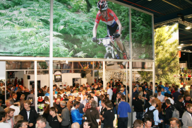 BBB Cycling borrel op Bike MOTION druk bezocht