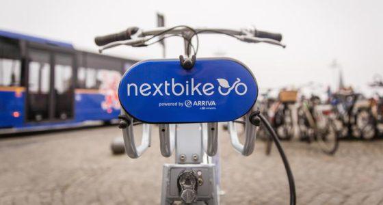 Nextbike en Arriva stellen in Maastricht fietsen ter beschikking voor korte ritten via een netwerk van fietsstations. Foto Nextbike Marco Reeuwijk