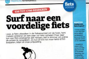 Consumentenbond promoot online fiets kopen