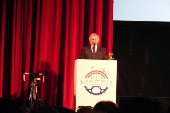 Manfred Neun is de initiatiefnemer van Velo-city, dat al zo'n 30 jaar bestaat. Hij is voorzitter van de 'Europese Fietsersbond', de European Cylists Federation (ECF). Foto redactie Tweewieler