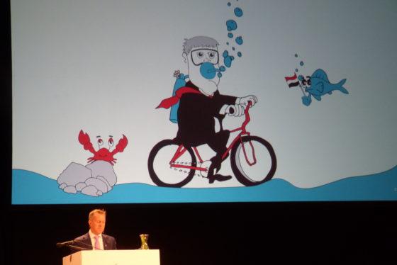 Kevin Krizek bevestigde de koploperspositie en uniciteit van Nederland als fietsland. Foto redactie Tweewieler