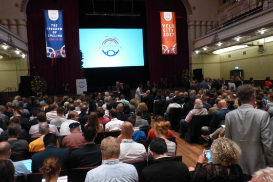 Met zo'n 1.500 deelnemers en 260 spreker uit meer dan 40 landen is deze editie van Velo-city twee keer zo groot als vorig jaar. Foto redactie Tweewieler
