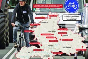 Speed pedelec op fietspad in Gelderland