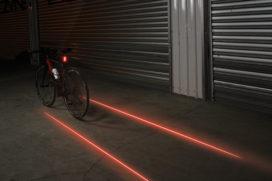 Lezyne achterlicht met twee laserstralen