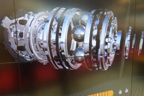 Op Eurobike liet Conti meer zien van de nieuwe 48V Conti middenmotor met automatische en continu variabele transmissie; Revolution. Foto redactie Tweewieler