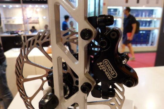 Elvedes introduceerde op Eurobike 2017 een compleet remsysteem, zowel in mechanische als hydraulische uitvoering. Foto redactie Tweewieler