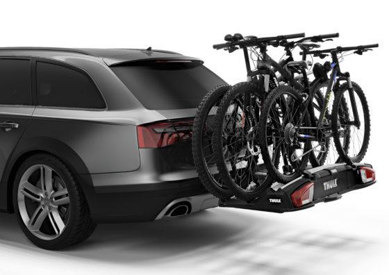 De Thule VeloSpace fietsdrager is bijzonder veelzijdig; alle soorten fietsen kunnen erop.